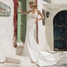 Свадебное платье русалка verngo сексуальное невесты с аппликацией