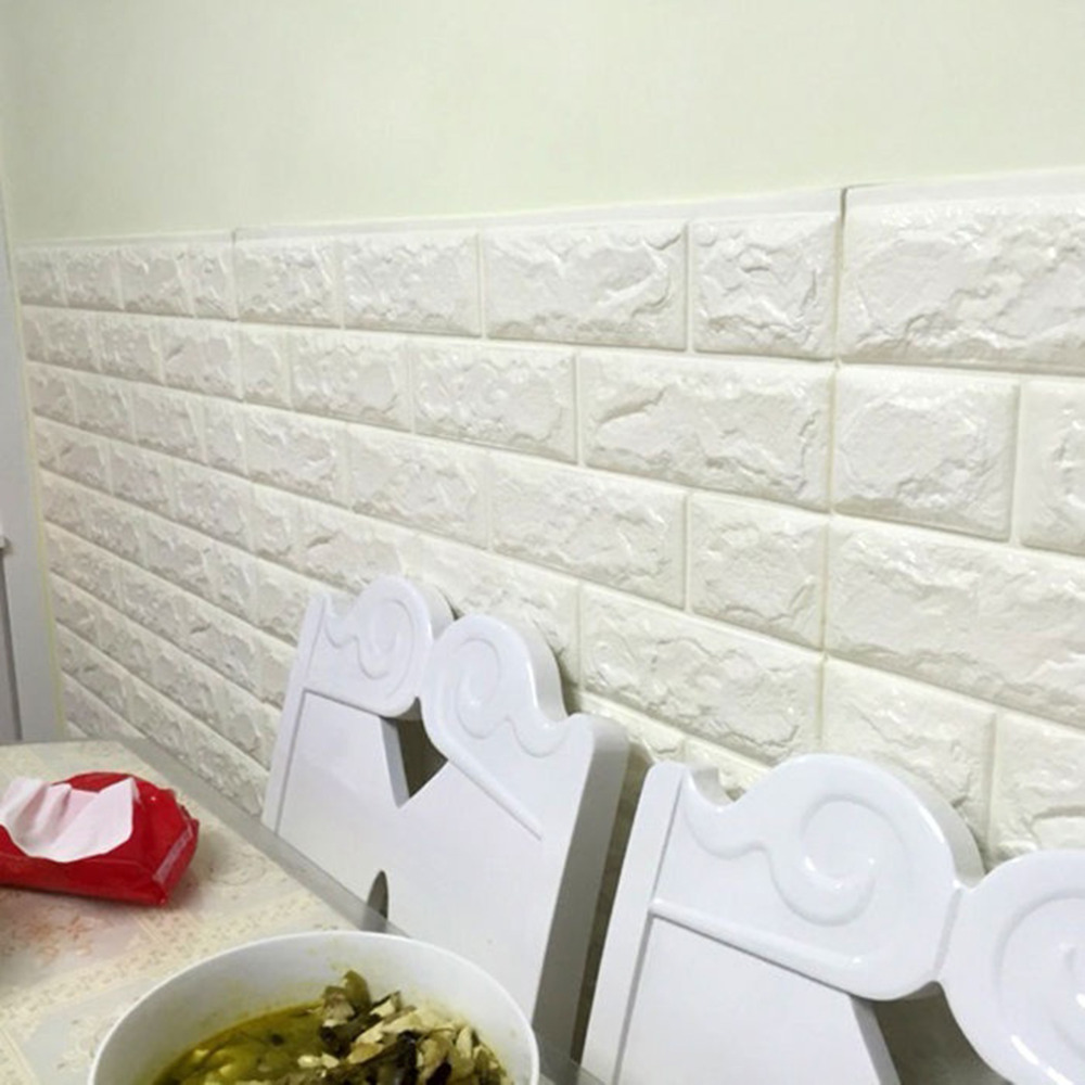 Quality White 3D Modern Design Brick Wallpaper Roll Vinyl Wall ...
