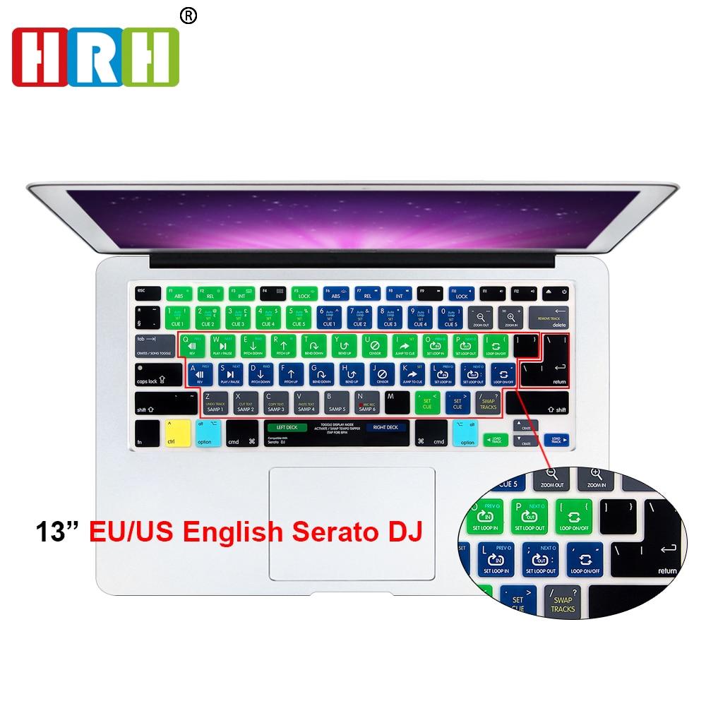 SAR Serato DJ Fonctionnelle Raccourci Raccourci Silicone Keyboard Cover Skin pour Macbook Air Pro Retina 13 15 17 Libération Avant 2016