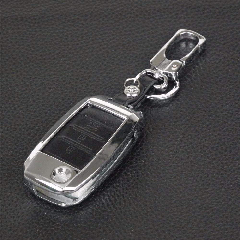 llavero Control remoto 3 botones Aleación de zinc + Cuero - Accesorios de interior de coche - foto 3