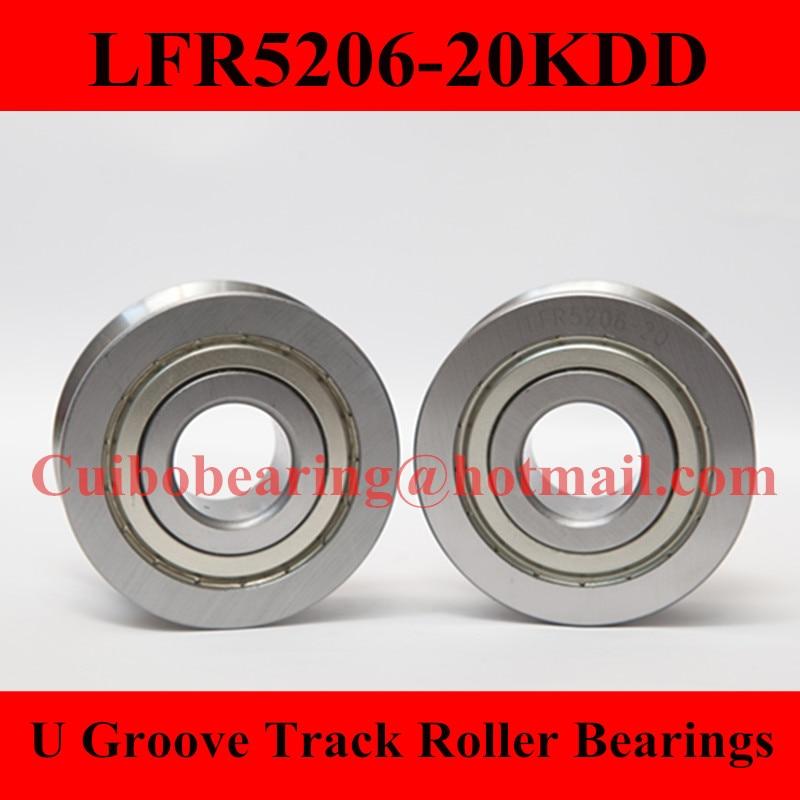 LFR5206-20 KDD Groove Track Roller Bearings LFR5206  size:25*72*25.8mm мишутка kdd 119 green