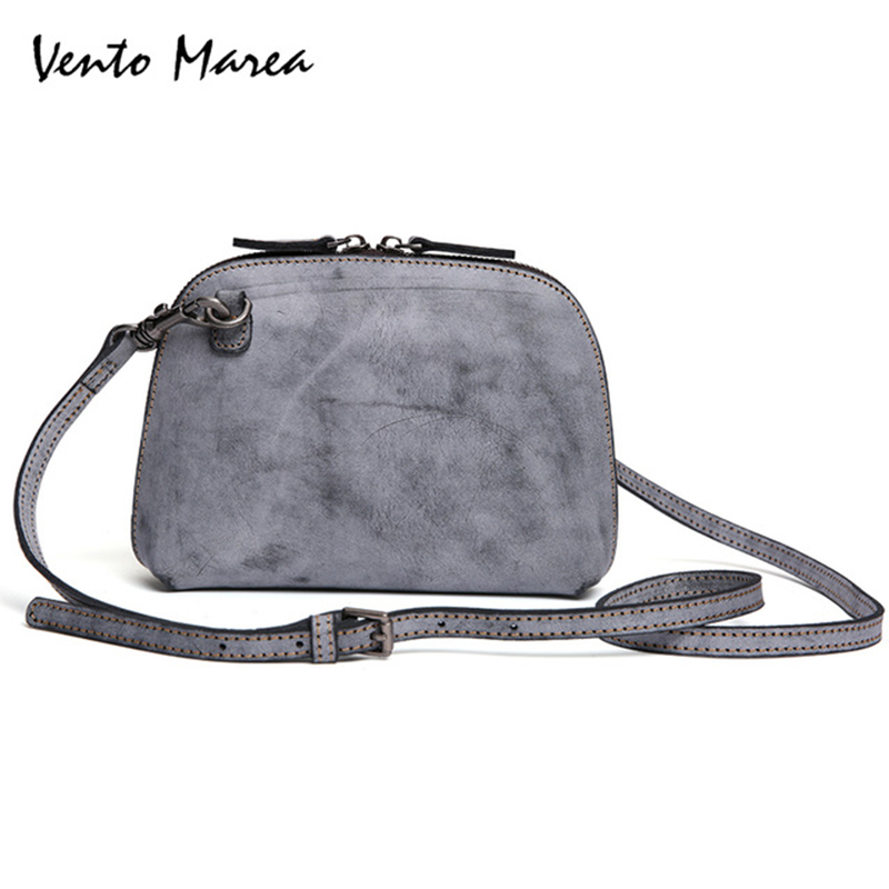 Vento Marea Women Handbag Genuine Leather Tote Bag Bolsa Feminina Shoulder Messenger Bags Tote Small Bags Femme Sac A Main 2018 women messenger bags vintage cross body shoulder purse women bag bolsa feminina handbag bags custom picture bags purse tote