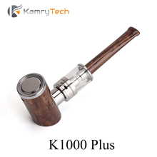 Wooden Pipe Electronic Cigarette Kit Vape Pen E Hookah Vaporizer E Pipe Kamry K1000 Plus E-Cigarette with K1000 Atomizer X1034