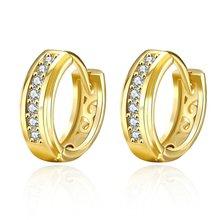 Серьги huggie женские серьги кольца с желтым золотом