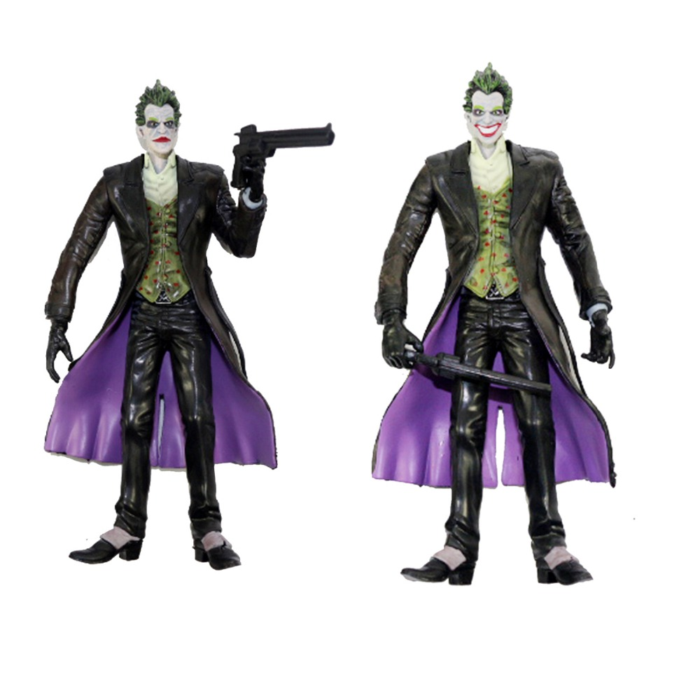 2pcs Lot DC Comic Collectible Justice League The JOKER Toy 17cm/7 Action Figure Loose  Free Shipping oreimo comic anthology