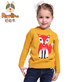 PATEMO Kids Girls Pullover Sweater Autumn/Winter O-Neck Full Sleeves Yellow/Green Sweater High Quality Brand Children Clothing