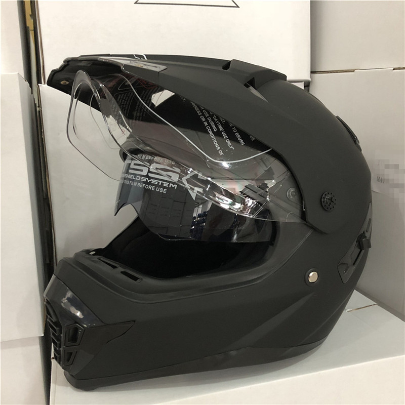 Marken motorrad helme motocross racing helm off road motorrad volle gesicht kreuz helm dual schild DOT168 herren