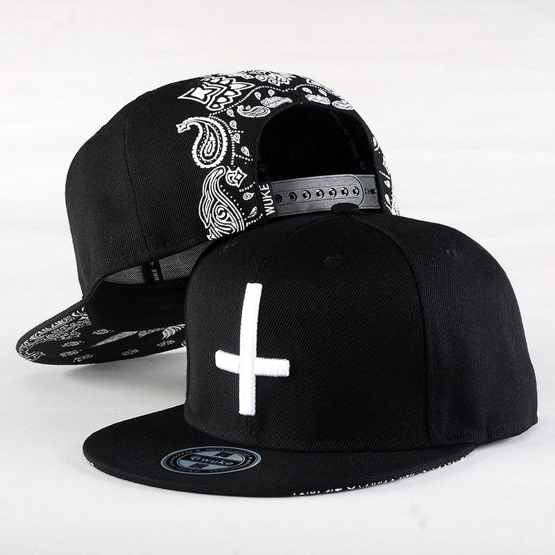 2017 New Brand Street Dance Cool Hip Hop Caps Embroidery Cross Snapback Snap Back Baseball Hats Bone Hat Free Shipping