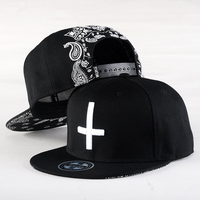 2017 New Brand Street Dance Cool Hip Hop   Caps   Embroidery Cross Snapback Snap Back   Baseball     Caps   Hats Bone Hat Free Shipping