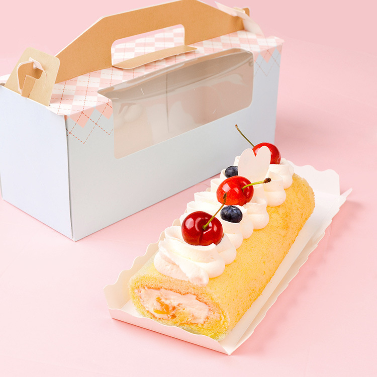 wedding cake take home bags 24 9 10cm 10 pcs roll cake paper cookie box take out 26204