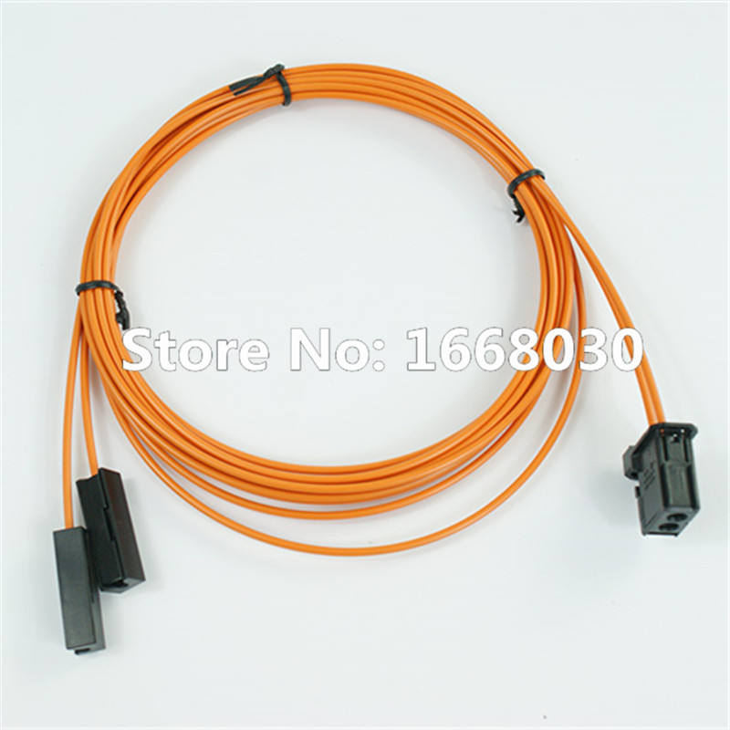 MOST Fiber Optic Cable Male & 2pcs break cable connector For Audi BMW Benz etc. 100cm