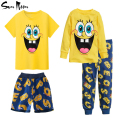 2016 Spring summer kids clothes cartoon baby boys girls clothing cotton pijamas Batman children sleepwear pyjamas pajamas set