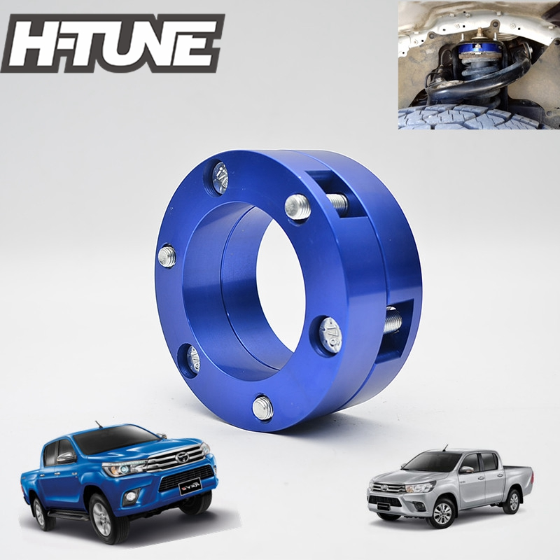 H-TUNE Suspension Lift Aluminum 32mm Front Coil Strut Shock Spacer Kit for Hilux Revo /Fortuner 4WD 2012 2015 2016 m4 male m 25 30 35 40 45 50 55 60 mm x m4 6mm female brass standoff spacer copper hexagonal stud spacer hollow pillars