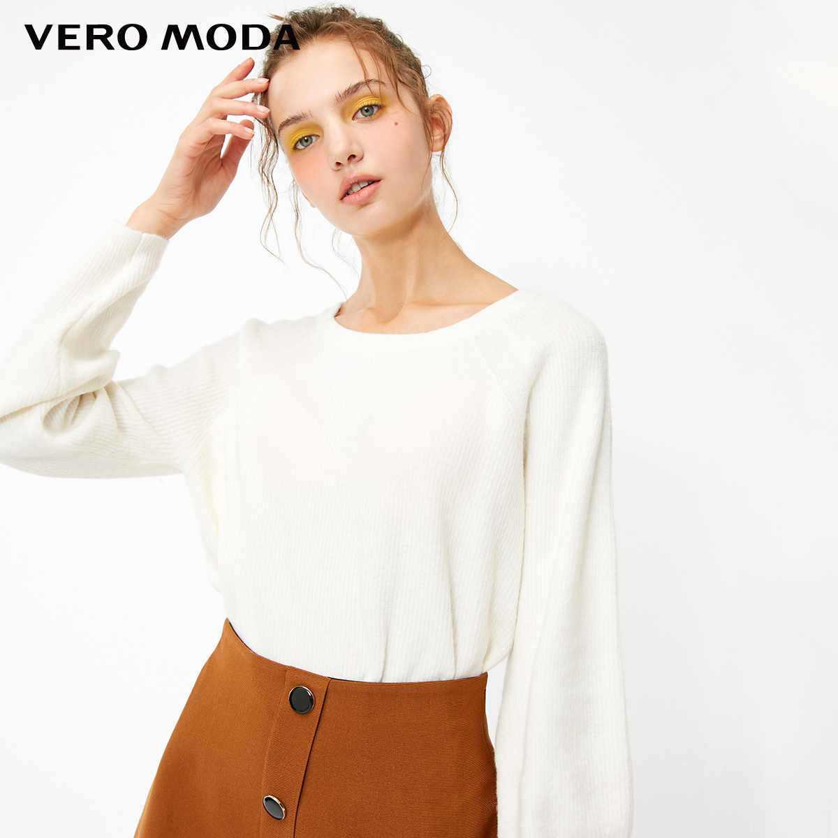 Vero Moda 2019 New Women's Bare Back Lace-up Raglan Sleeves Pure Knit  Sweater | 319113514