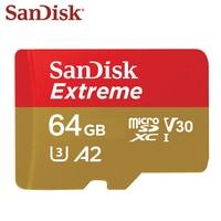 SanDisk MicroSD карты 128 ГБ A1 A2 32 Гб карта памяти Extreme Micro SD UHS-I TF высокоскоростная карта U3 V30 64 Гб Поддержка 4 K Бесплатная доставка