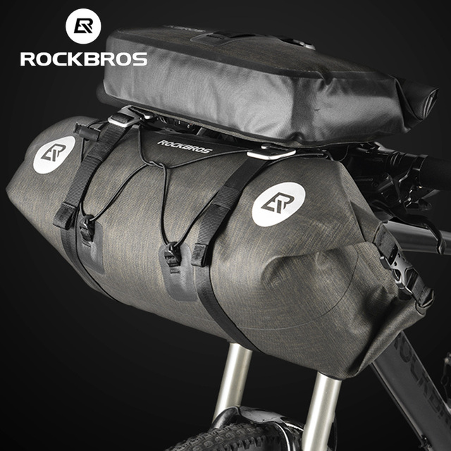 61471e775493 ROCKBROS Bicycle Bags 2 in 1 Set Waterproof Large Capacity 20 L MTB Road  Bike Handlebar Front Bag Pouch Pannier Bike Accessories