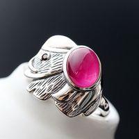 925 sterling silber ring mit dem roten korund elefanten öffnung Thai silber, die alte weisen ist angeboten