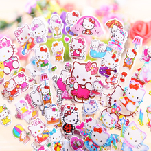 3 pcs Creative pvc classic Cartoon character stereoscopic children's stickers Stationery Plastic Sticker