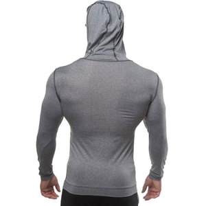 Image 4 - Men Bodybuilding Hoodie Gyms Fitness Tight Zipper Sweatshirt Man Autumn New Casual Hooded Jacket Male Jogger Workout Clothing