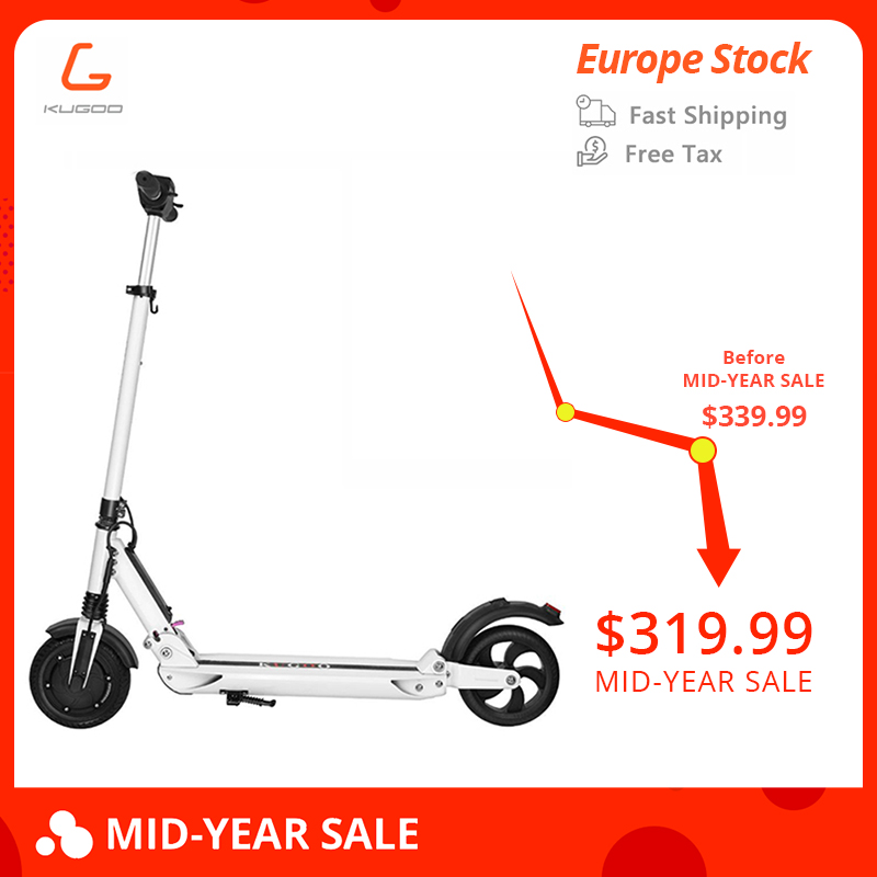 Free tax KUGOO S1 patinetas electricas scooter Adult Electric Scooter 350W 35km/h 8 Inches Max Load 120KG vs iscooter vs mi m365