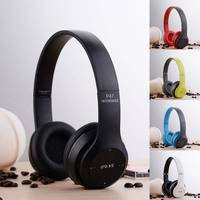 Wireless Bluetooth Headset Foldable Headphones Stereo Audio Earphone Oreillette With Mic Support FM Radio TF Card