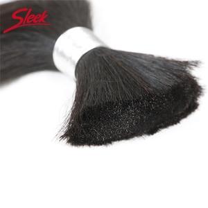 Image 3 - Sleek Remy Human Hair Malaysian Straight Bulk Hair For Braiding In Natural Color 8 To 30 Inches Crochet Braids No Weft Hair Bulk