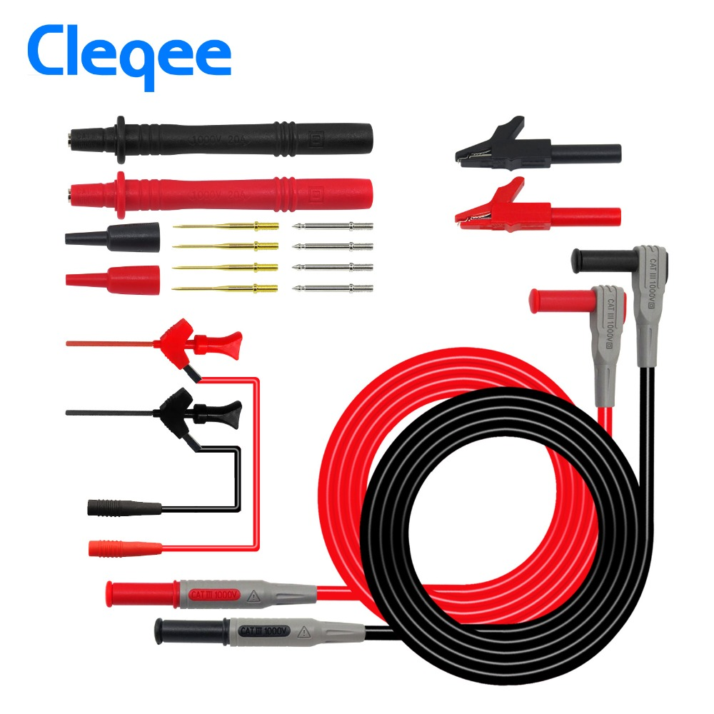 Cleqee P1300B 12-in-1 Super-Multimeter Sonde Austauschbare Sonde Clamp Multi Meter Test Blei kits + Alligator clips