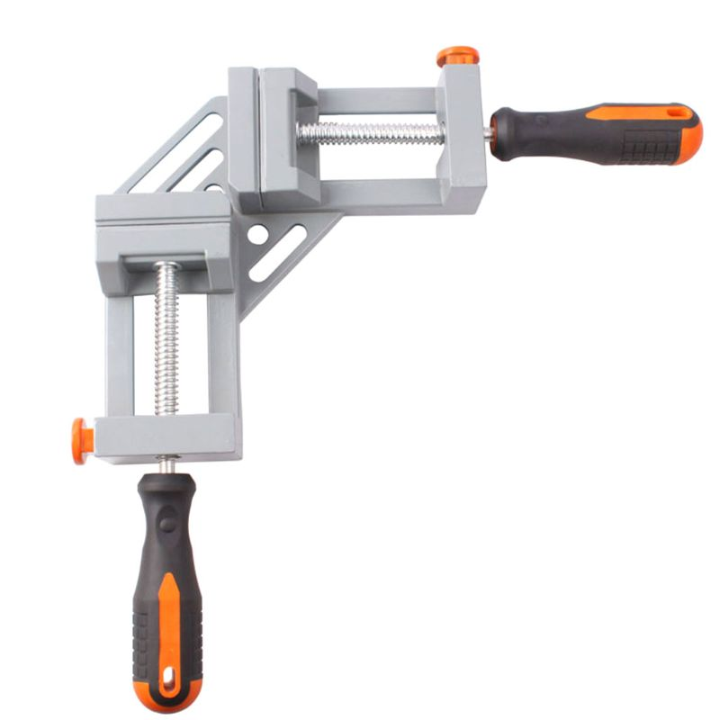 Double Handle Right Angle Clamp 90 Degrees Welding Clamp Carpenter Woodworking Tool