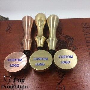 Image 3 - Aanpassen Wax Stempel met Uw Logo, Gecoat Messing Handvat Stempel DIY Oude Seal Retro Stempel, Gepersonaliseerde Lakzegel custom design