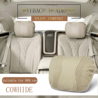 Car Seat Headrest Maybach Design S Class Car Neck Seat Comfortable Soft Cushion Covers Adjustable Car Pillow For Mercedes Benz
