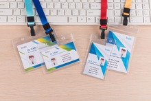 10PCS PVC Clear ID Card Badge Holder with Zipper Office Stationery Supplies