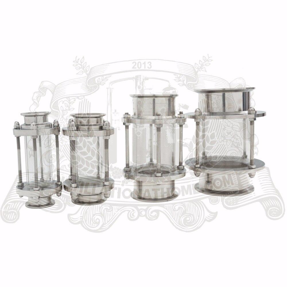 Диоптр, смотровая башня, смотровое стекло 3/4 -8 (19 мм-204 мм), нержавеющая сталь 304.