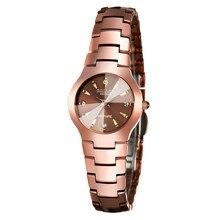 Sollen mujeres de acero de tungsteno del reloj reloj del negocio impermeable relojes pareja minimalista calendario reloj de cuarzo de acero