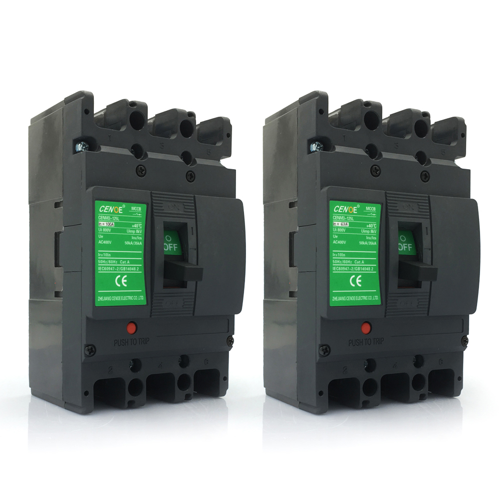 innovation 3P 63A 100A 400V Molded case circuit breaker mccb with Innovation module box no need open whole item to install parts image
