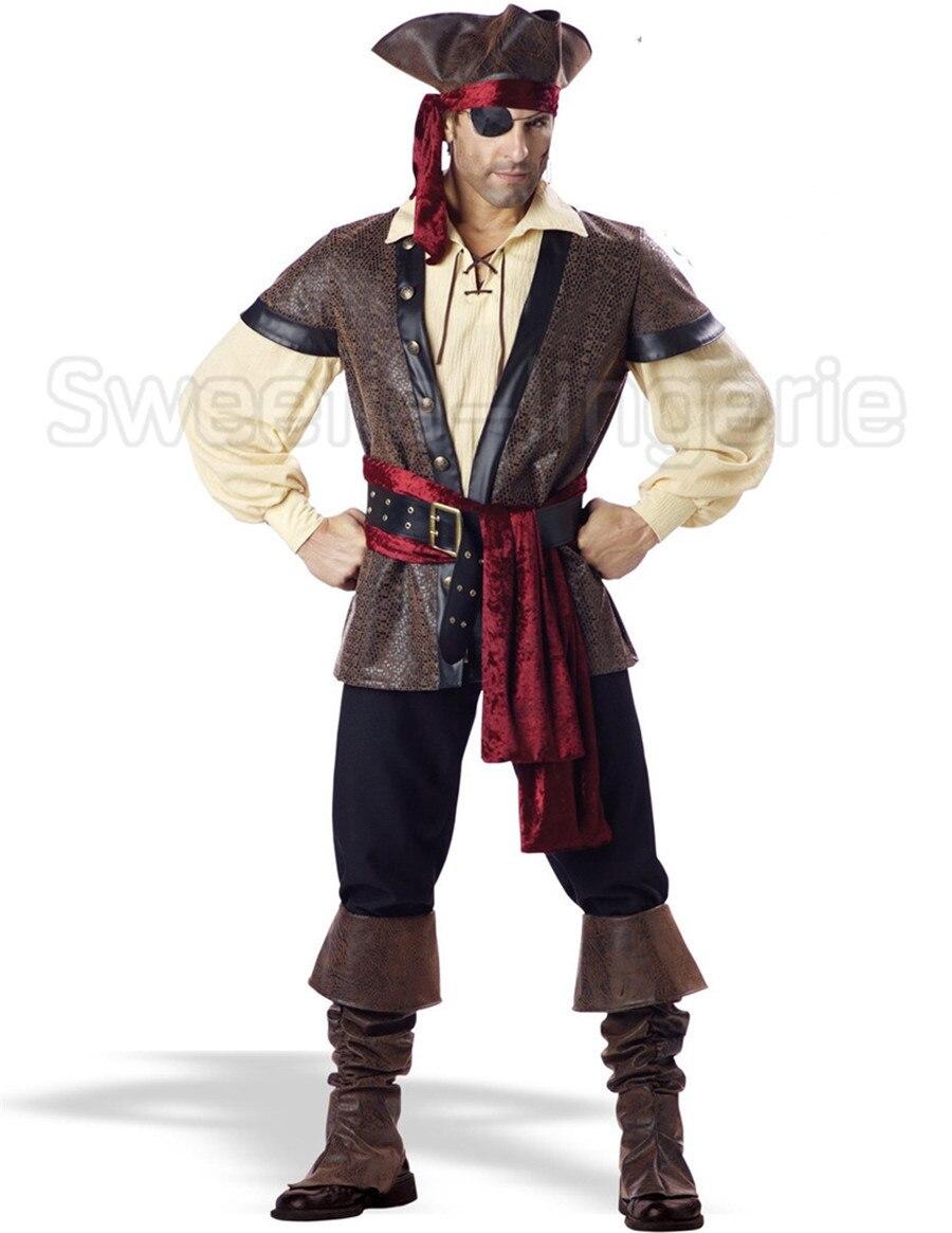 los hombres traje de pirata pirata disfraces de halloween para los hombres adultos cosplay traje de