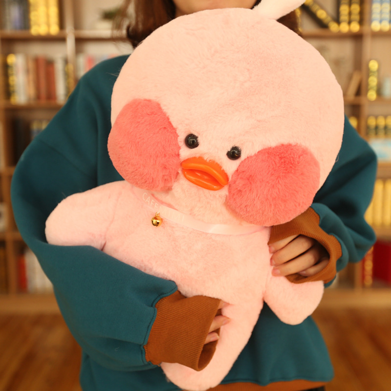 48cm Big Lalafanfan Plush Stuffed Toys Kawaii Cafe Mimi Yellow Duck Plush Toys Valentine's Day Gifts Decoration Toys For Girls