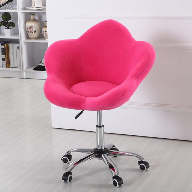 Louis Fashion Lifting Flower Type Chair Swivel Chair Household Cloth Chair  Lovely Leisure Bar Stool