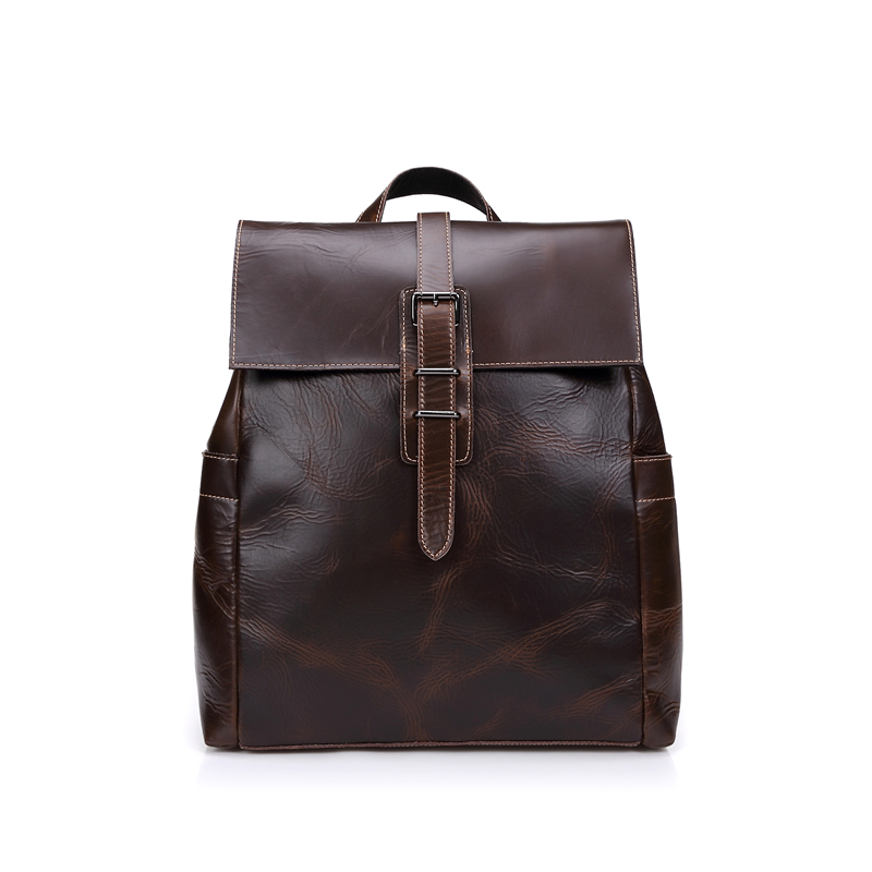 Nesitu Vintage Coffee Unisex 100% Guarantee Real Skin Genuine Leather Women Men Backpacks #M8050 ltech r4 cc zone constant current receiver dmx512 decoder led receiving controller dmx signal driver 2 4g wireless led dimmer