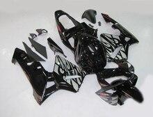 Литья под давлением пластиковые обтекатели для Honda CBR600RR 03 04 черный серебристый кузов части обтекатель комплект для CBR600RR 2003 2004 LY75