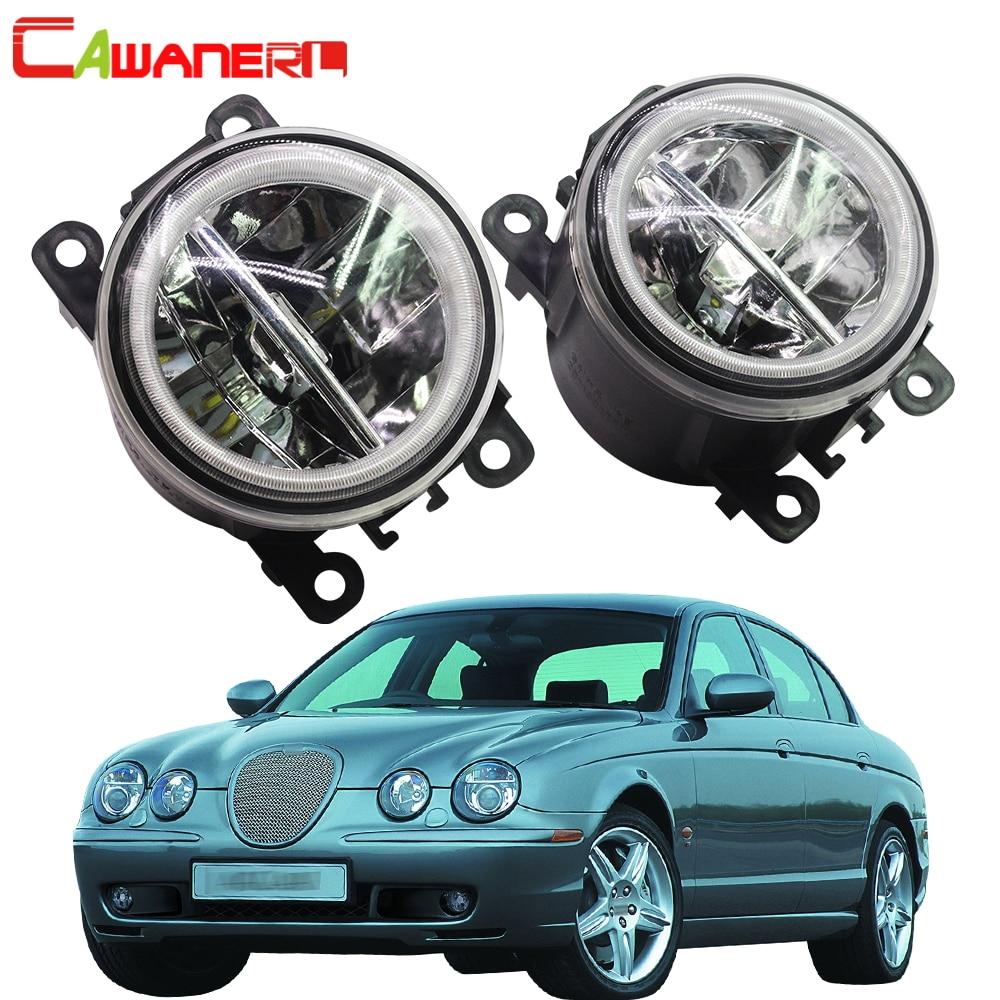 Cawanerl For 1999 2007 Jaguar S Type CCX Saloon Car Styling LED Fog Light Angel Eye