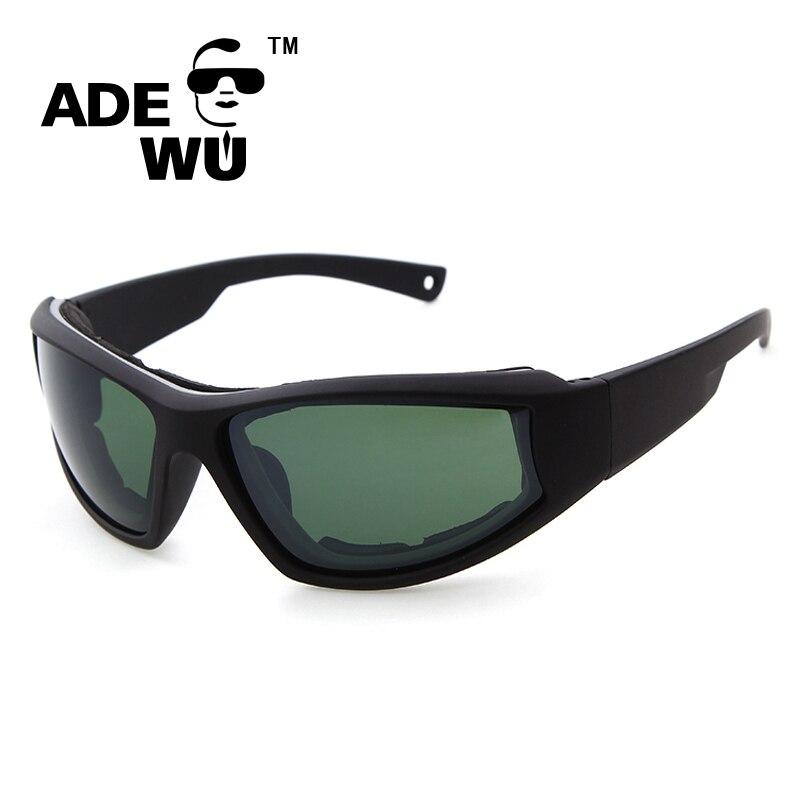 3bb1c6a7f58ac ADE WU Óculos Steampunk Óculos de Sol Óculos De Sol Dos Homens Designer de  Marca Exército Militar Tático Óculos De Sol Com Caso Gafas UV 400 em Óculos  de ...