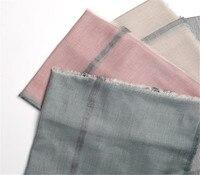new arrival 100%lambswool women fashion plaid thin scarfs shawl pashmina 125x180cm grey 4color