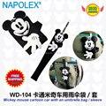 Accesorios del coche de dibujos animados de mickey mouse Car back bolso paraguas establece WD-104 el envío gratis