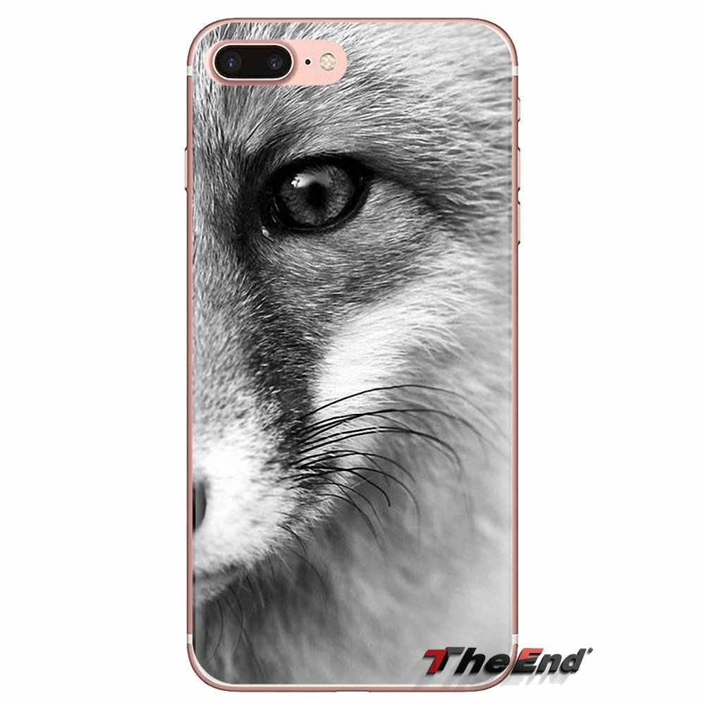 Lembut Transparan Shell Cover untuk Samsung Galaxy J1 J2 J3 J4 J5 J6 J7 J8 Plus 2018 Prime 2015 2016 2017 Hewan Lebih Lucu Rubah Kucing