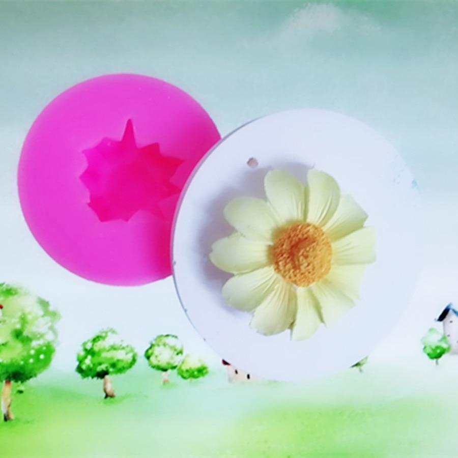 C1088 Guirlande chrysanthème fleur silicone moule savon moule et moule de savon décoration de gâteau moule