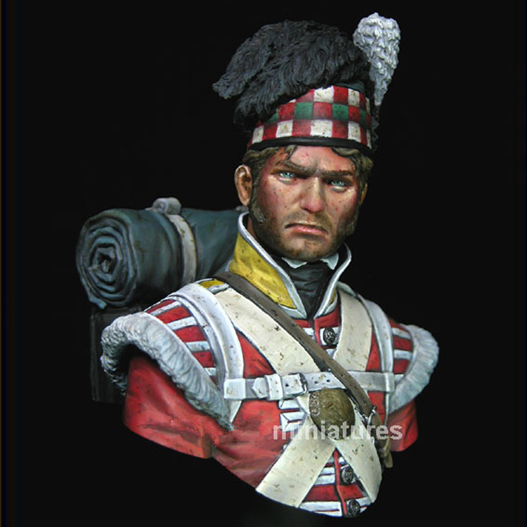1:10 buste resin bust resin Miniatures Waterloo ninety-second infantry Unpainted and unassembled Free shipping resin kits 1 9 hans ulrich rudel german soldier bust unpainted kit resin model free shipping