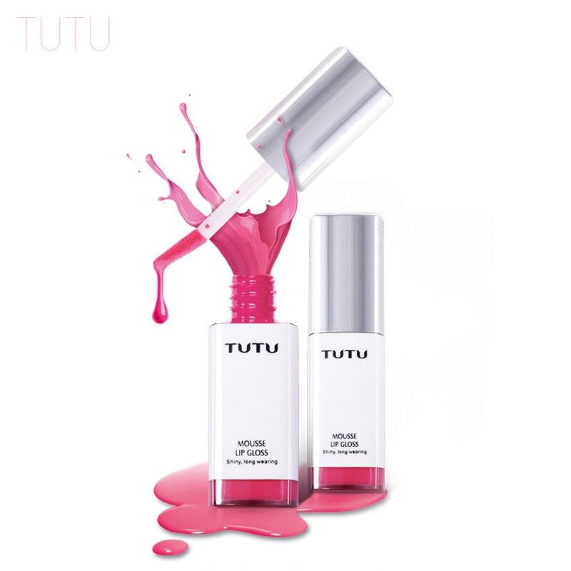 TUTU Lips Makeup Double Head Botanical Cushion Lips Brush with Gradation Tint Lip Gloss 8ML