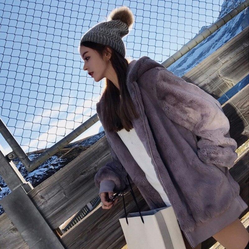 Autumn Winter Hoodies Sweatshirt Women Tops Casual Long Sleeve Oversized Hoodie Fashion Warm Ladies Jacket Coat Outerwear Q579