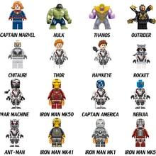 Marvel Avengers Endgame Sets Building Blocks Iron Man Captain Marvel Thanos Hulk Figures Kids Toys Compatible LegoING Avengers 4