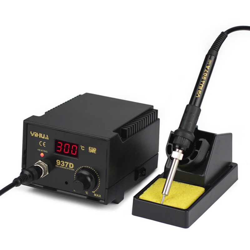High Quality Soldering Station 110V 220V 45W YIHUA-937D Eruntop 936 Constant Temperature Antistatic Soldering Iron Station US EU